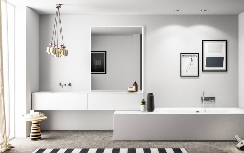 Ambiente Bagno (B) - panoramica: Bagno in stile in stile Scandinavo di Nova Cucina