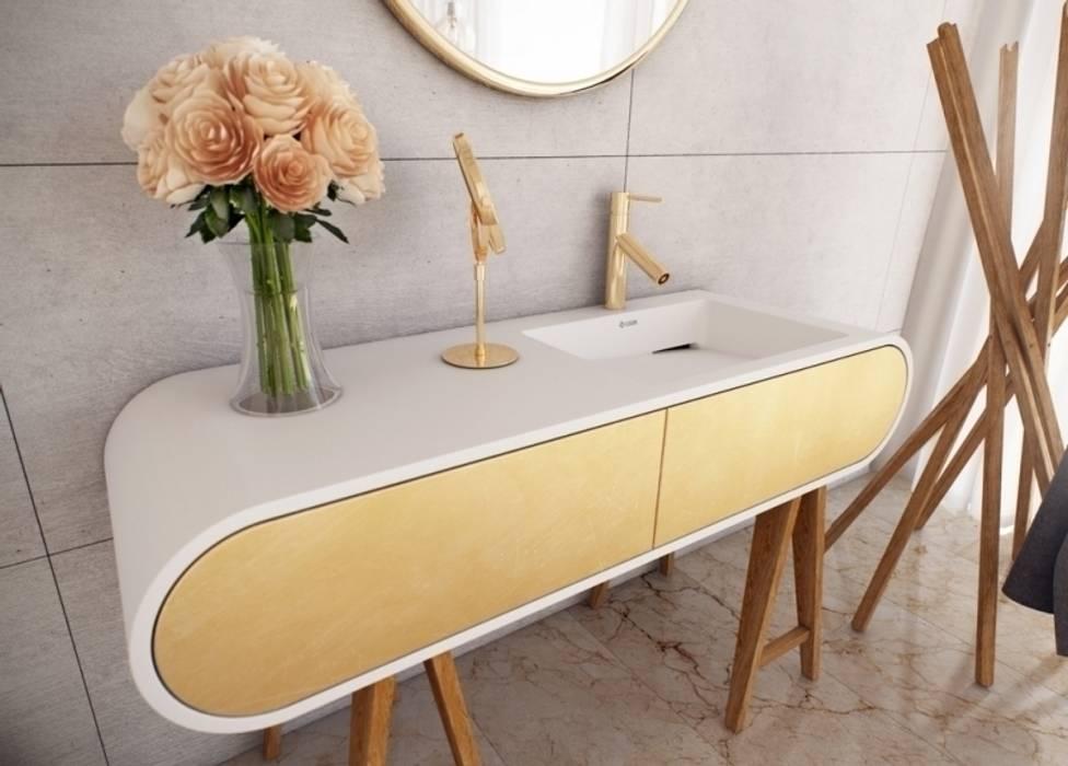 Nowoczesna szafka GOOGLE wraz z umywalką: styl , w kategorii Łazienka zaprojektowany przez Luxum