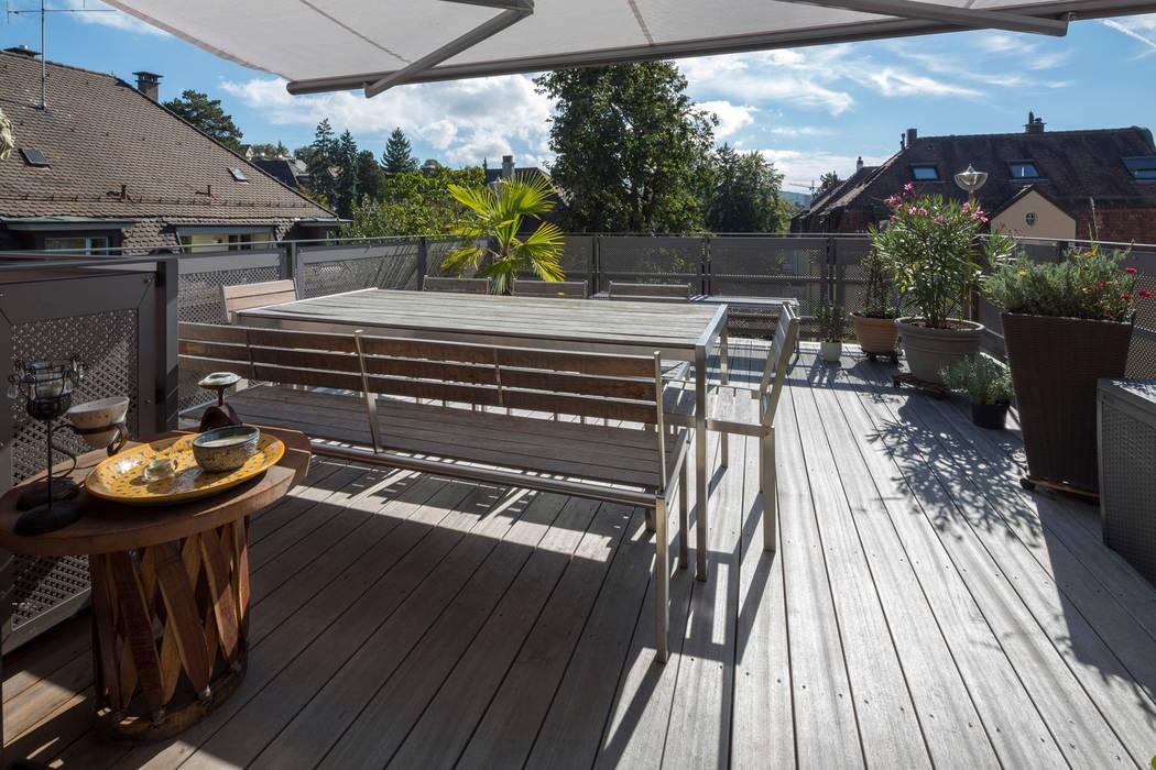 Terrasse 3. OG:  Garten von Tschander.Keller architekten