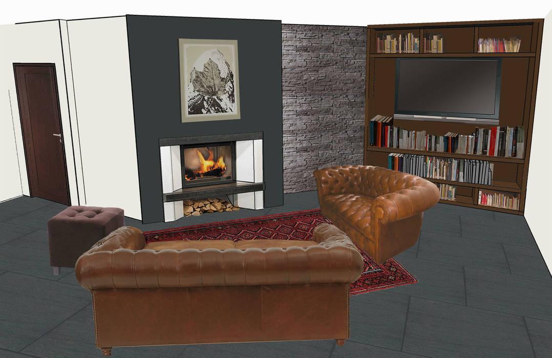 Kamin Ecke Moderne Wohnzimmer Von Adeline Labord Interiors Modern Homify