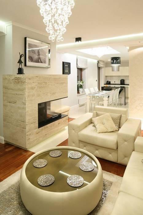 Apartament Glamour Nowoczesny salon od homify Nowoczesny