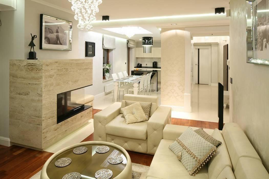Salon. Nowoczesny glamour.: styl , w kategorii Salon zaprojektowany przez CAROLINE'S DESIGN