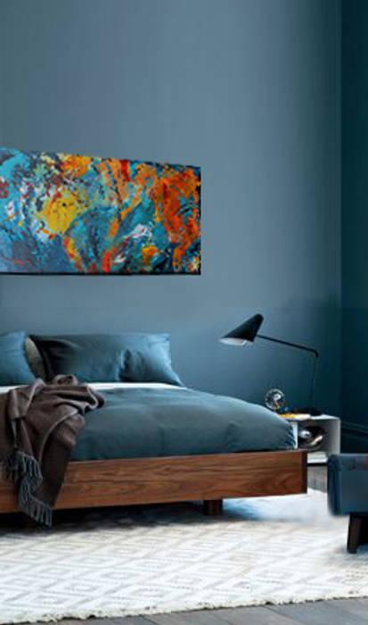 "Wandgestaltung durch acrylbild ""farbrausch"" moderne ..."