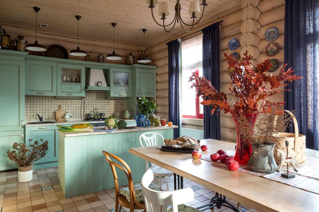 Дача 180м2: Кухни в . Автор – Tatiana Ivanova Design, Кантри