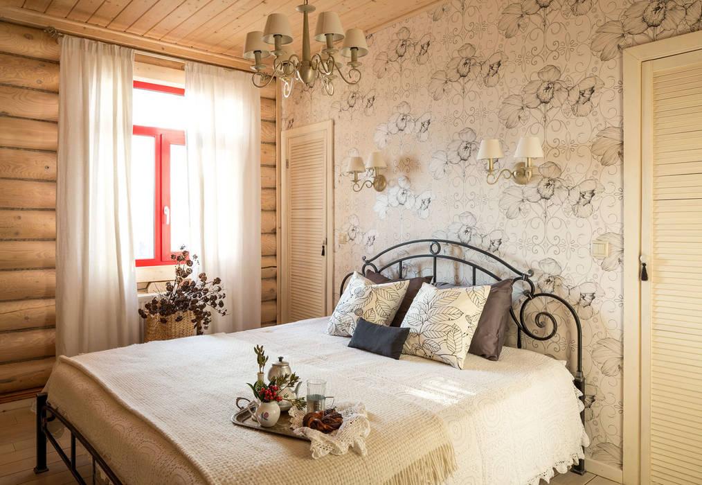 Дача 180м2: Спальни в . Автор – Tatiana Ivanova Design, Кантри