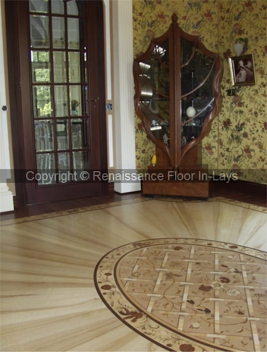 intarsie podłogowe : styl , w kategorii Domowe biuro i gabinet zaprojektowany przez Renesans Floor In-lays Urszula Klotz
