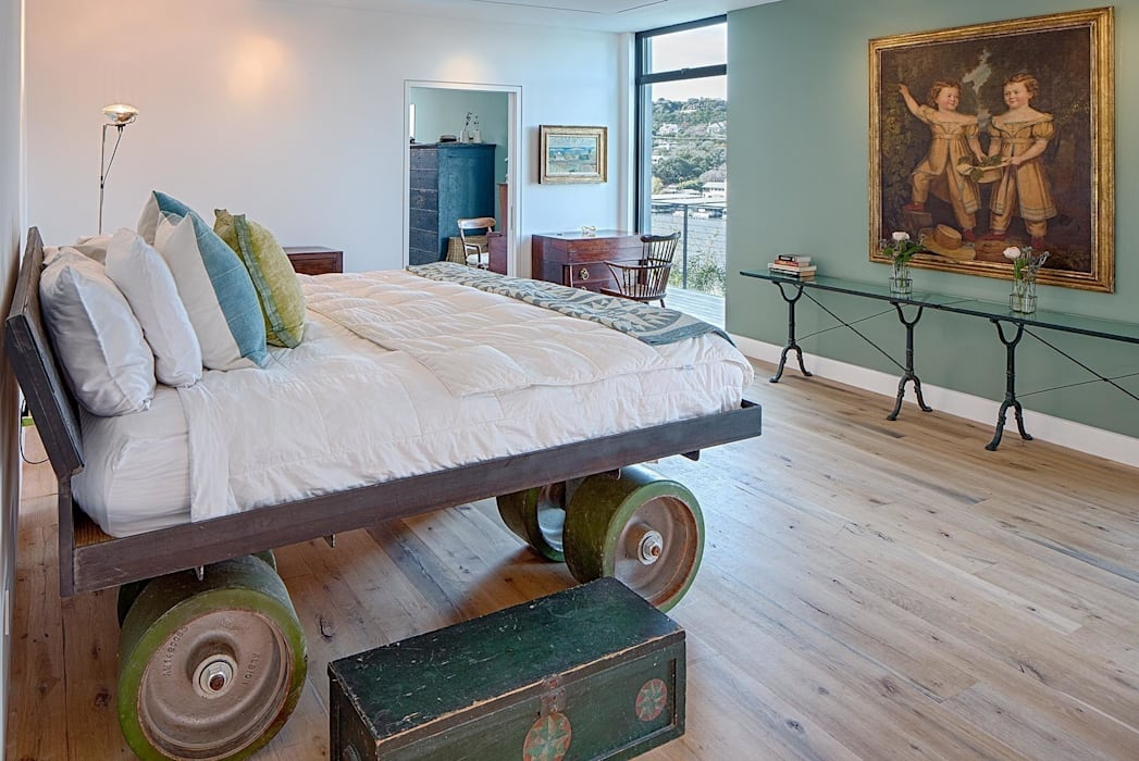Cliff Dwelling Specht Architects Eclectic style bedroom