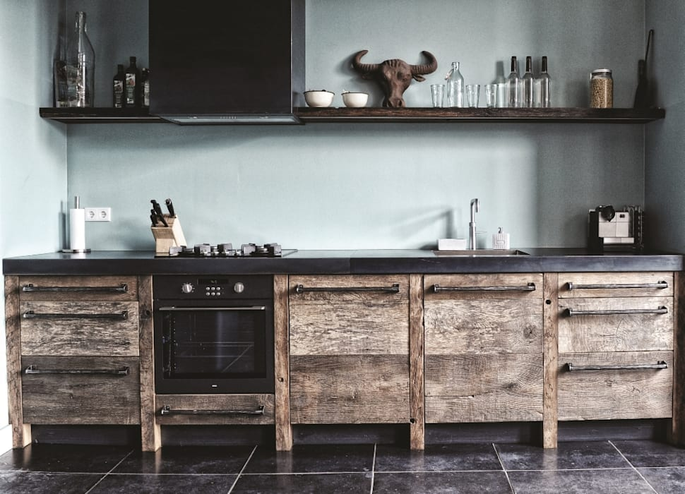 Kitchen by RestyleXL, Industrial Wood Wood effect