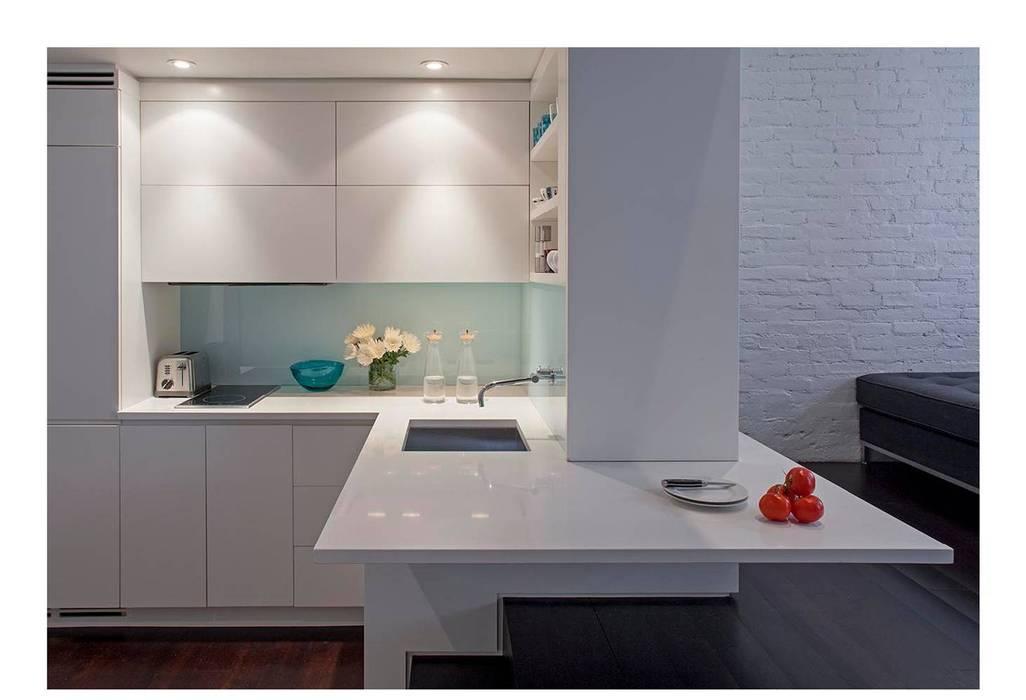 Manhattan Micro-Loft Modern kitchen by Specht Architects Modern