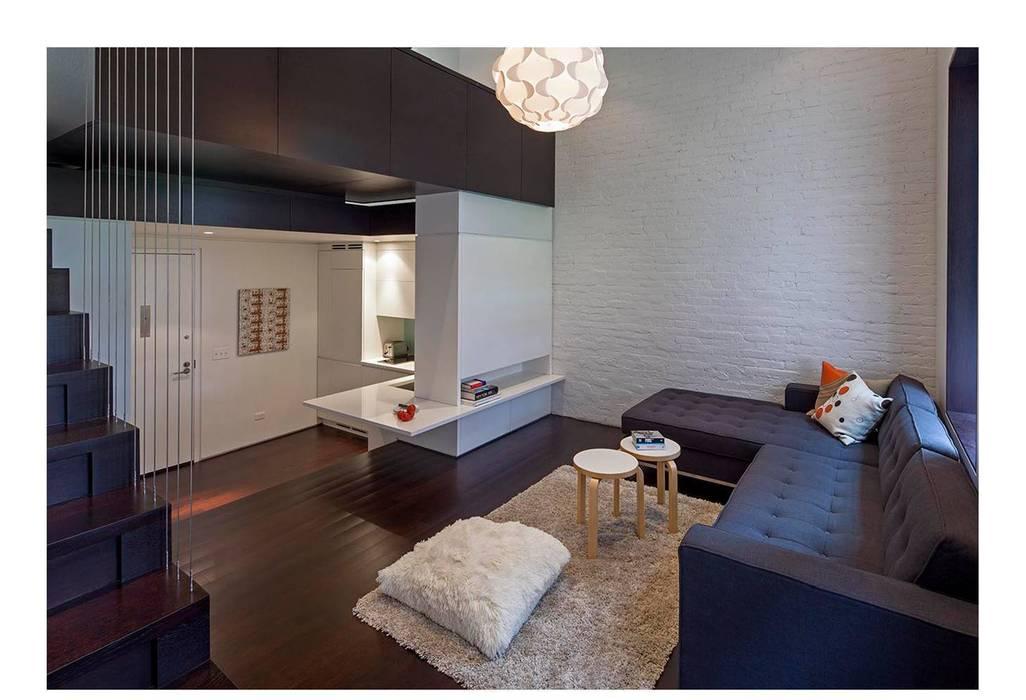 Manhattan Micro-Loft Moderne Wohnzimmer von Specht Architects Modern