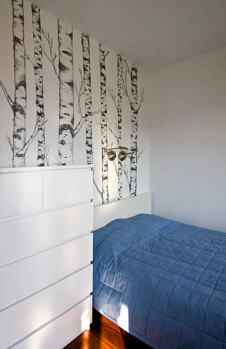 Mieszkanie na Tarchominie Nowoczesna sypialnia od Ładne Wnętrze Nowoczesny