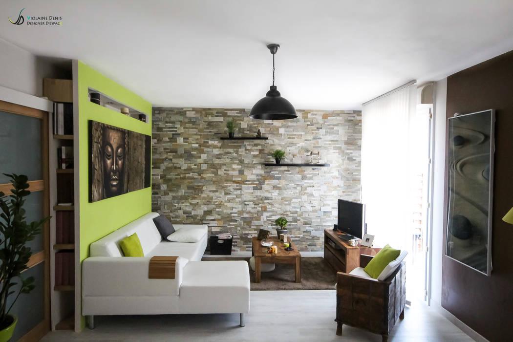 Décoration d'une pièce à vivre Salon moderne par Violaine Denis Moderne