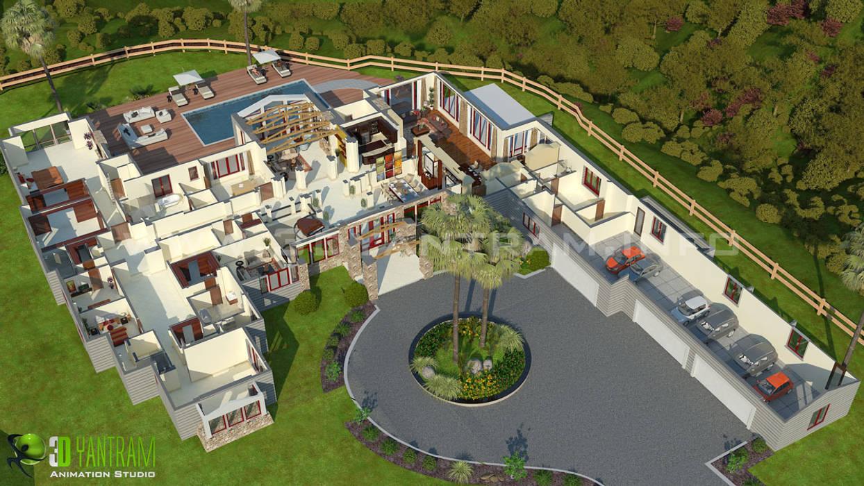 Hotel resort 3d floor plan design por