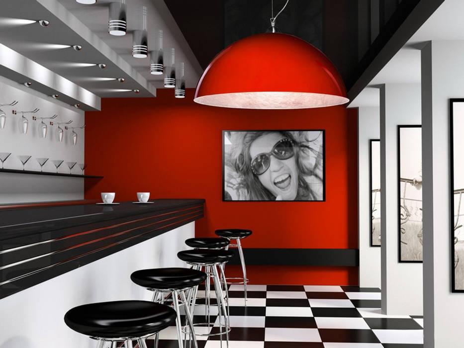 Kolorowe lampy Luminato: styl , w kategorii Jadalnia zaprojektowany przez Luxum