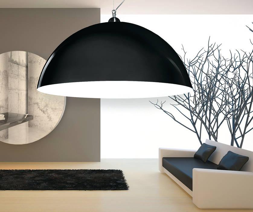 Lampa Luminato w kolorze czarnym: styl , w kategorii Salon zaprojektowany przez Luxum