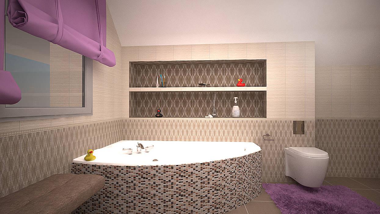 Коттедж в п. Грибки: Ванные комнаты в . Автор – дизайн-бюро ARTTUNDRA, Минимализм
