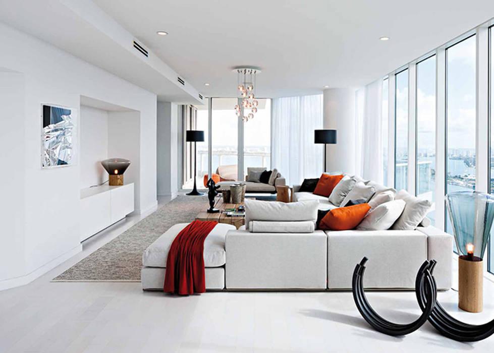 Arredamento moderno: soggiorno in stile di convert casa srl ...