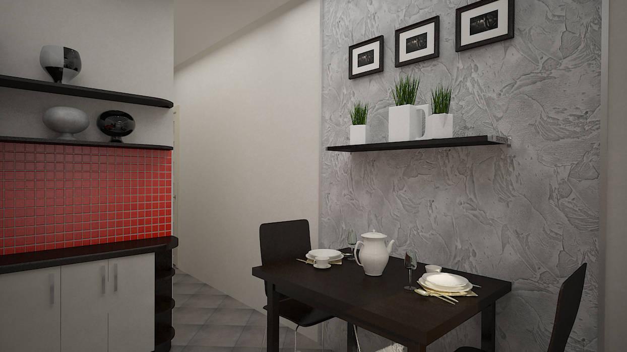 Морской поп-арт . Однокомнатная квартира. Кухни в эклектичном стиле от дизайн-бюро ARTTUNDRA Эклектичный