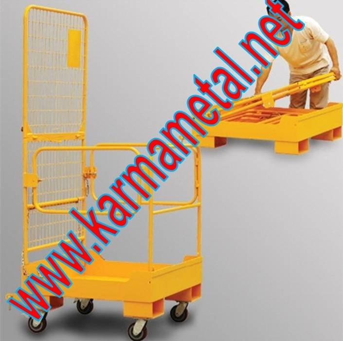 KARMA METAL – KARMA METAL-Forklift İnsan Personel  Adam Taşıma Kaldırma Sepeti:  tarz Oturma Odası, Endüstriyel