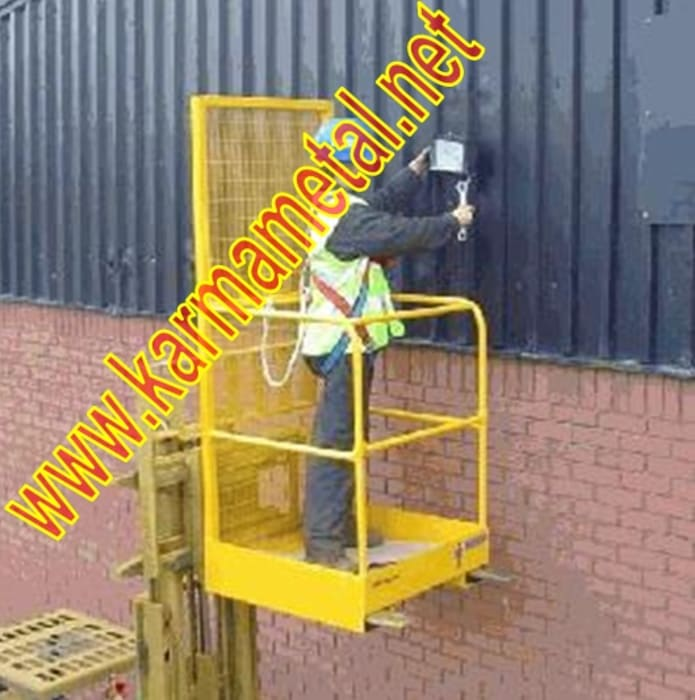 KARMA METAL-Forklift İnsan Personel Adam Taşıma Kaldırma Sepeti Endüstriyel Spa KARMA METAL Endüstriyel