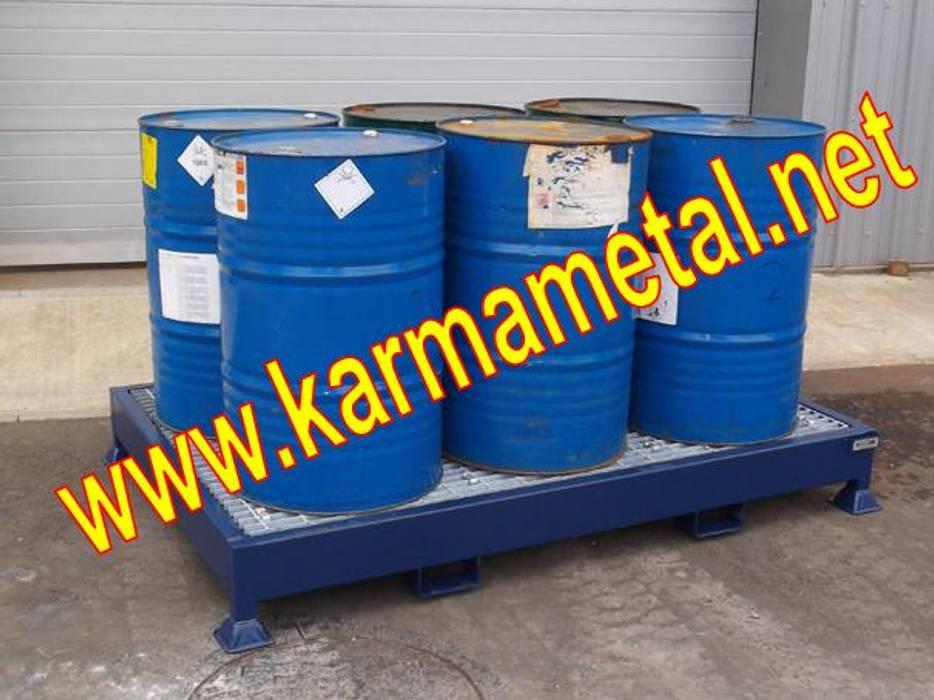 KARMA METAL – KARMA METAL-Varil Yağ Sıvı Kimyasal Toplama Küveti:  tarz Mutfak, Endüstriyel