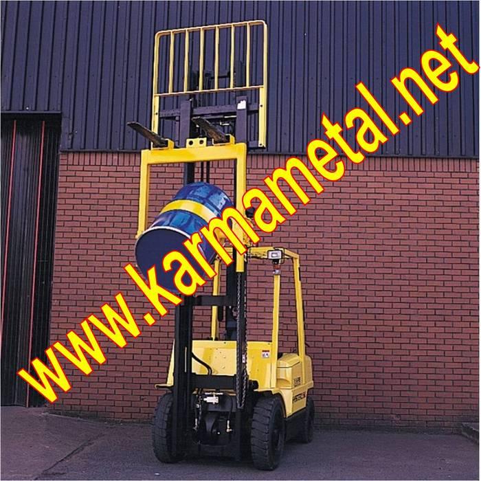 KARMA METAL-forklift varil taşıma kaldırma çevirme ataşmanı aparatı Endüstriyel Koridor, Hol & Merdivenler KARMA METAL Endüstriyel