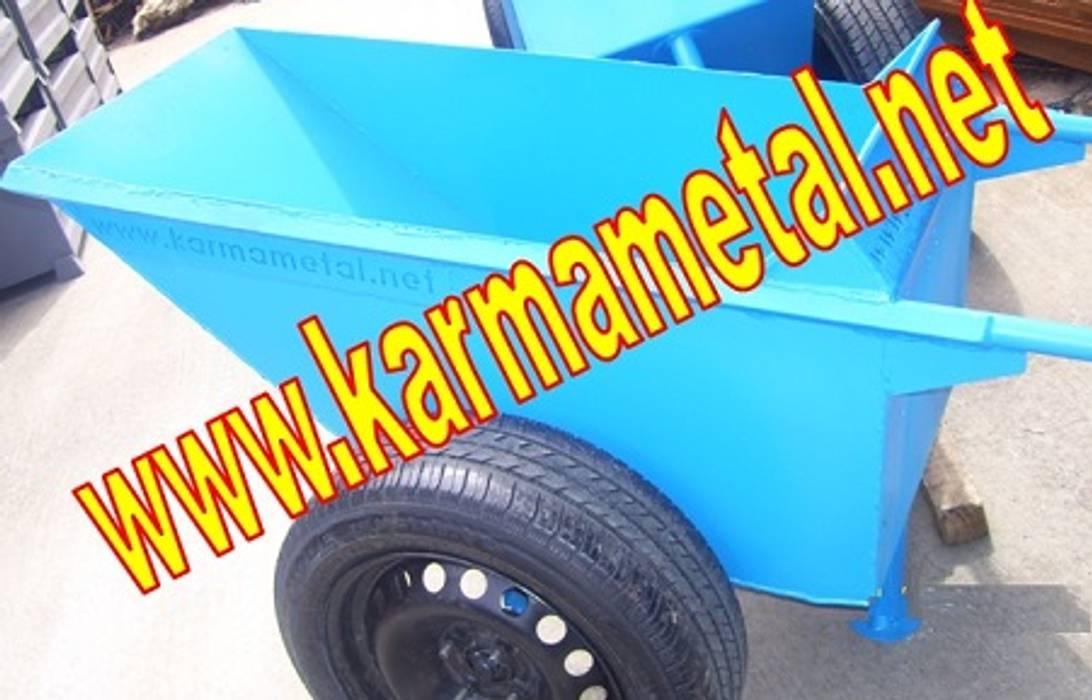 KARMA METAL – KARMA METAL – Japon Tipi İnşaat Harç Taşıma Arabası Çift Tekerlekli El Arabaları:  tarz Mutfak, Endüstriyel