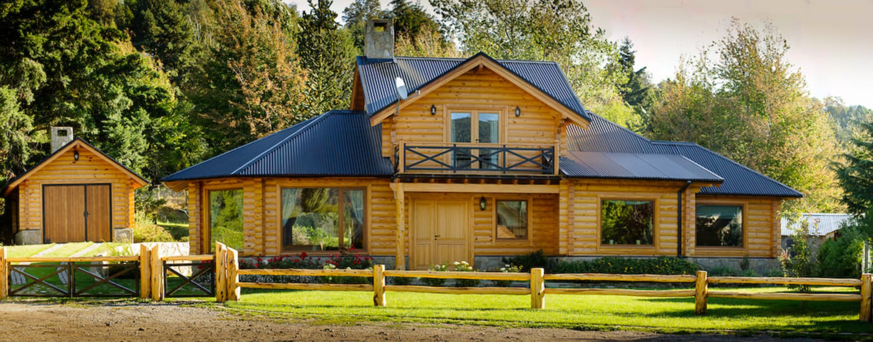 Patagonia Log Homes - Arquitectos - Neuquén Detached home Wood Wood effect