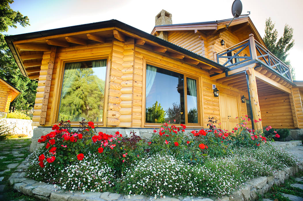 Casa Amancay Ι San Martín de los Andes, Neuquén. Argentina. de Patagonia Log Homes - Arquitectos - Neuquén Rural Madera Acabado en madera