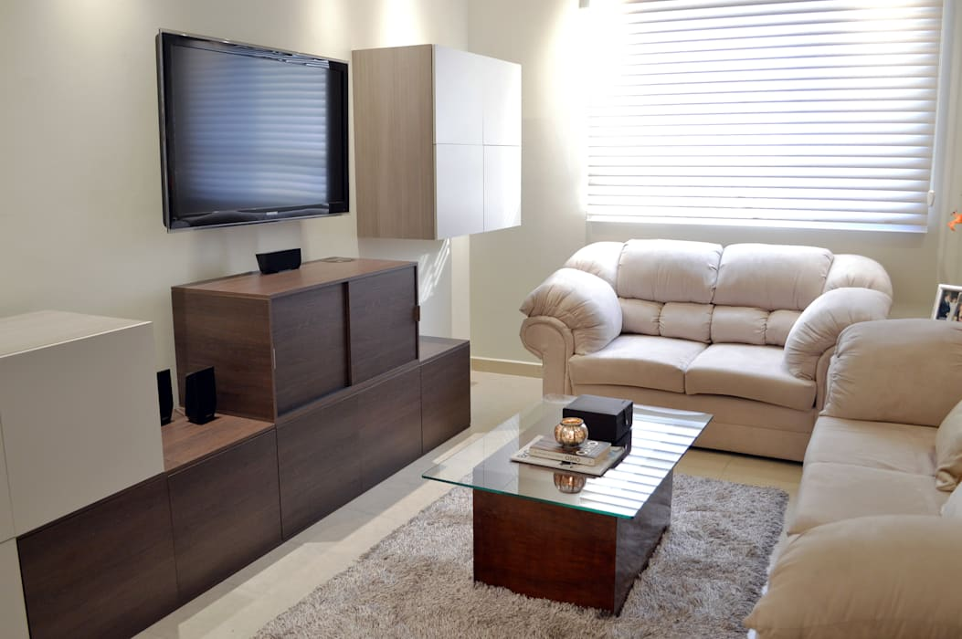 SAN ISIDRO by APOTEMA INTERIORS Livings de estilo moderno de APOTEMA Estudio de Diseño Moderno Tablero DM