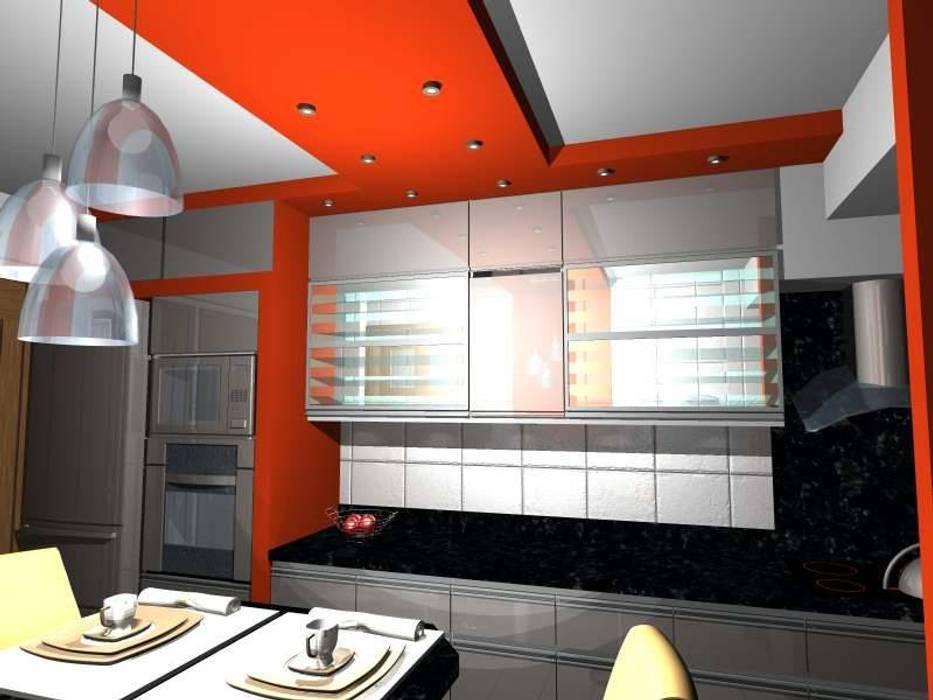 Minimalist Mutfak pb Arquitecto Minimalist Ahşap-Plastik Kompozit