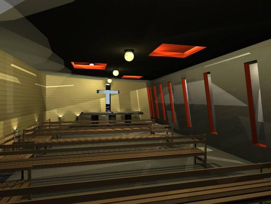 Propuesta de Diseño y modelado 3D diurno y nocturno edificio residencial.: Casas de estilo  por pb Arquitecto, Moderno