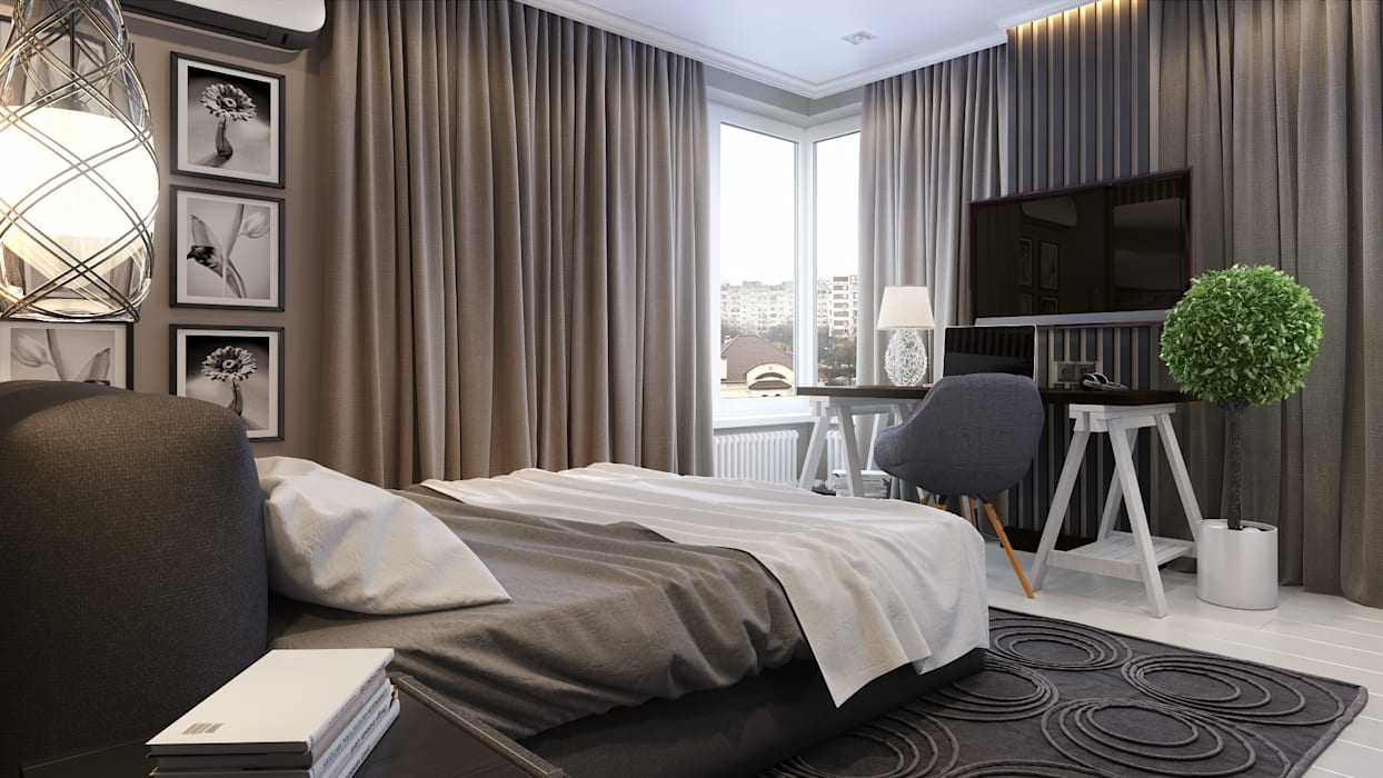 Квартира для холостяка: Спальни в . Автор – Mushulov Project,