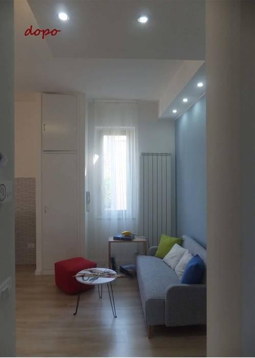Si ricava un piacevole soggiorno: Soggiorno in stile in stile Moderno di EFFEtto Home Staging