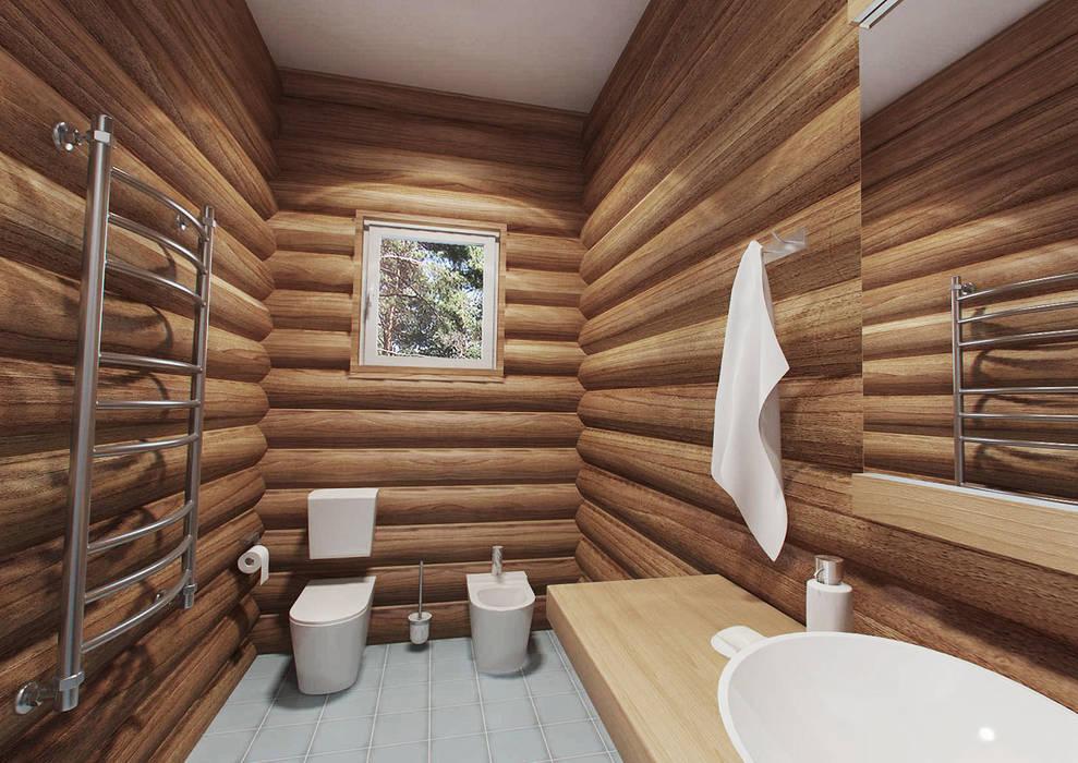 Гостевой дом 200м2.: Ванные комнаты в . Автор – tim-gabriel