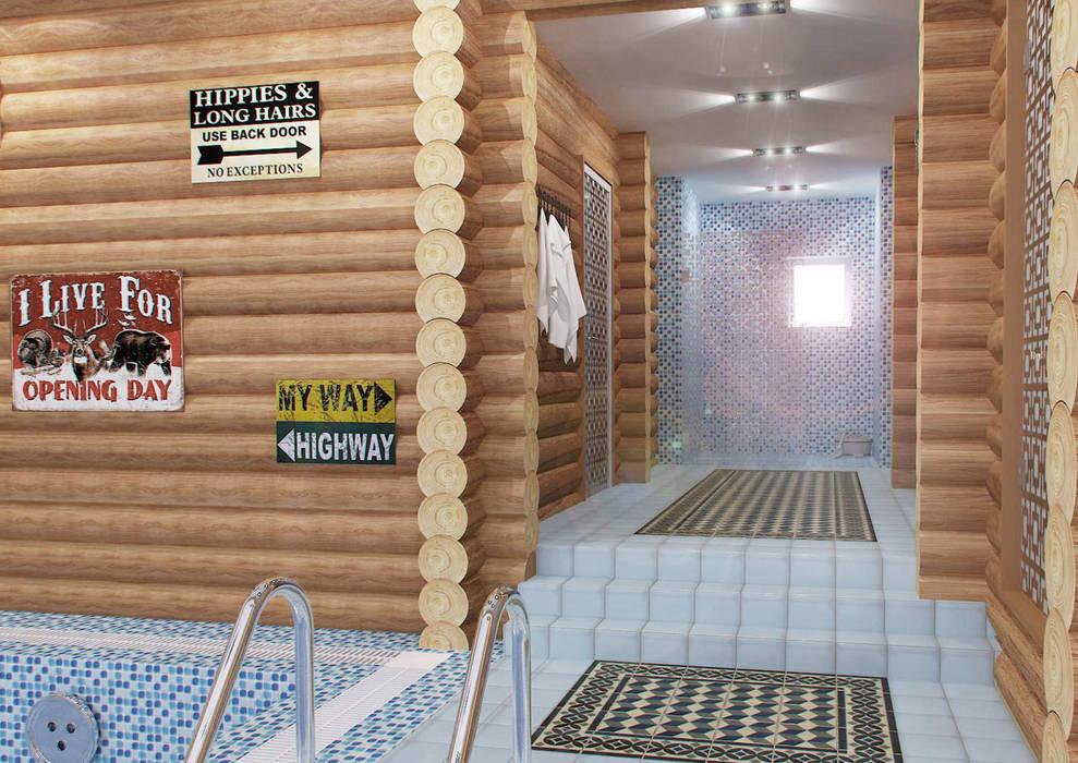 Гостевой дом 200м2.: Бассейн в . Автор – tim-gabriel