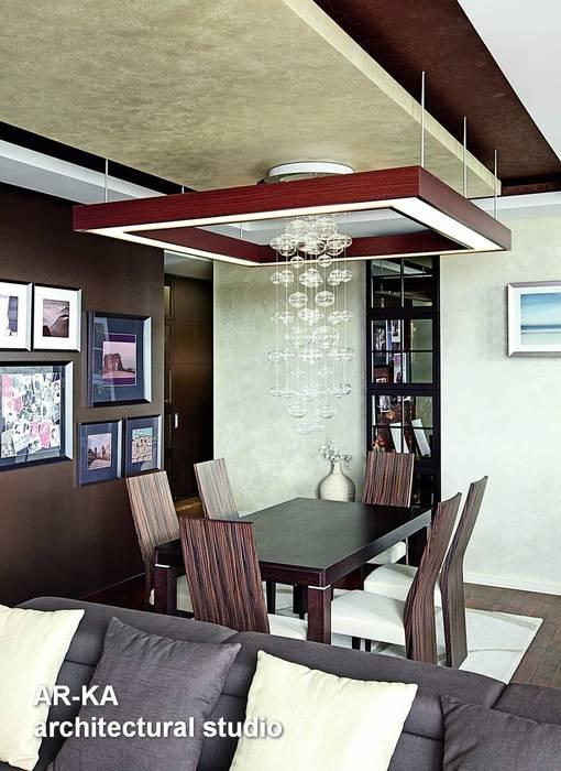 Жизнь в ШОКОЛАДЕ : Столовые комнаты в . Автор – AR-KA architectural studio