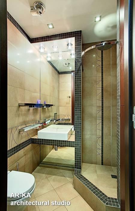 Жизнь в ШОКОЛАДЕ : Ванные комнаты в . Автор – AR-KA architectural studio,