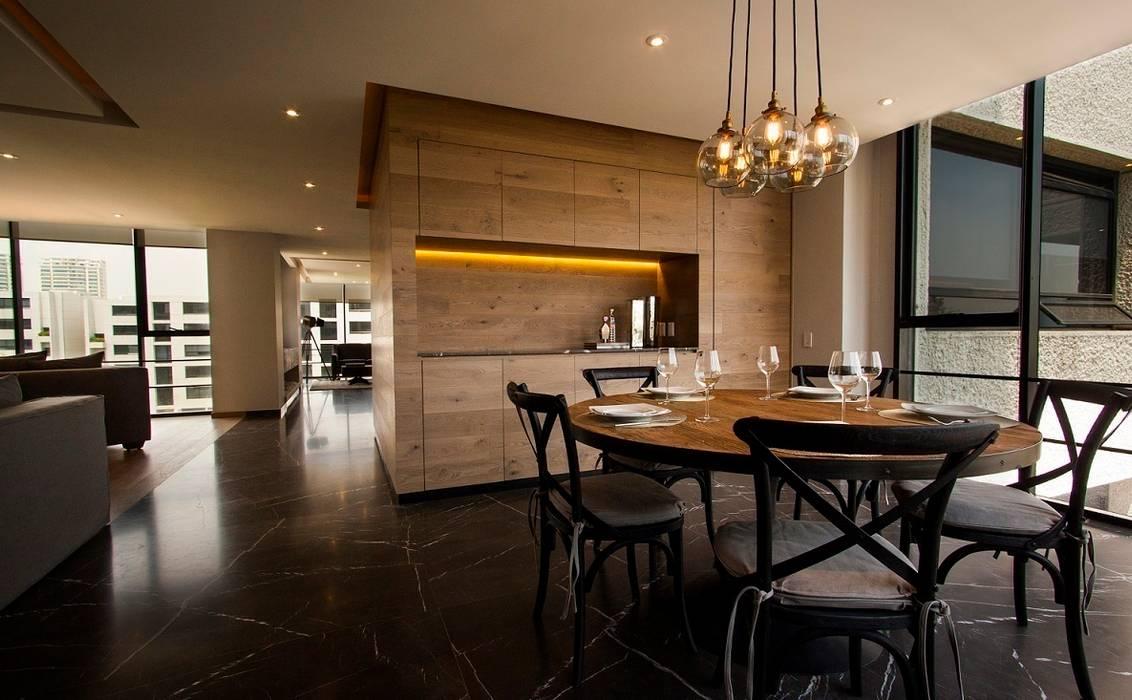 Salle à manger de style  par Concepto Taller de Arquitectura