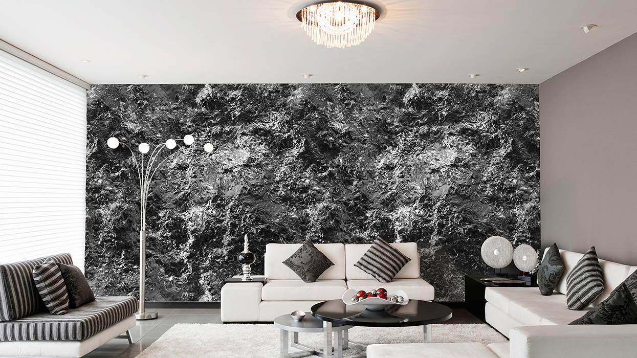 Felswand grau schwarz: moderne wohnzimmer von mowade | homify
