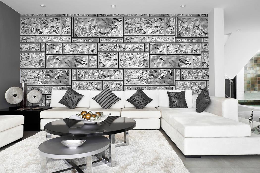 Gladaz silber grau: wohnzimmer von mowade | homify
