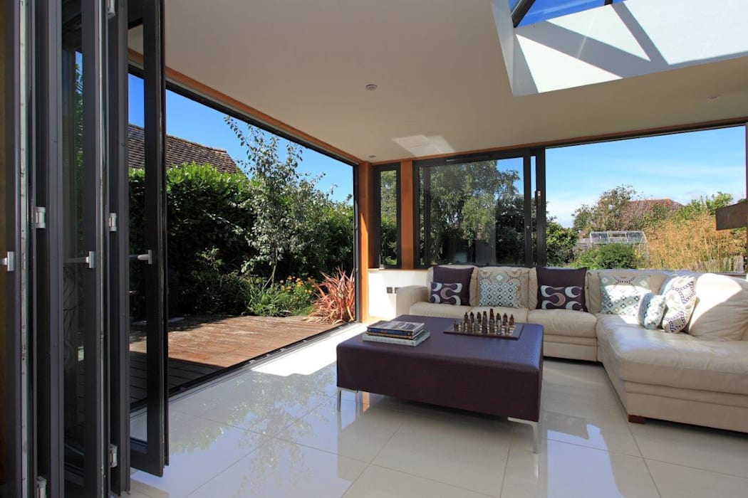 Refurbishment project West Sussex Minimalist conservatory by At No 19 Minimalist