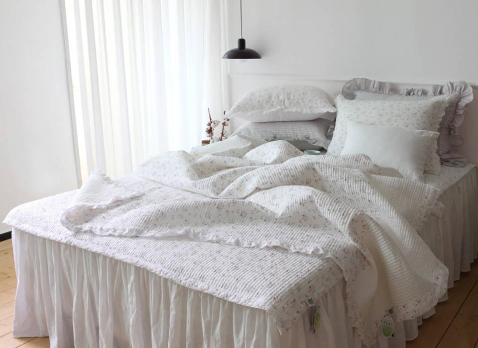 여름 샤르망 와인 차렵 베딩세트: 메종드룸룸의  침실,러스틱 (Rustic)