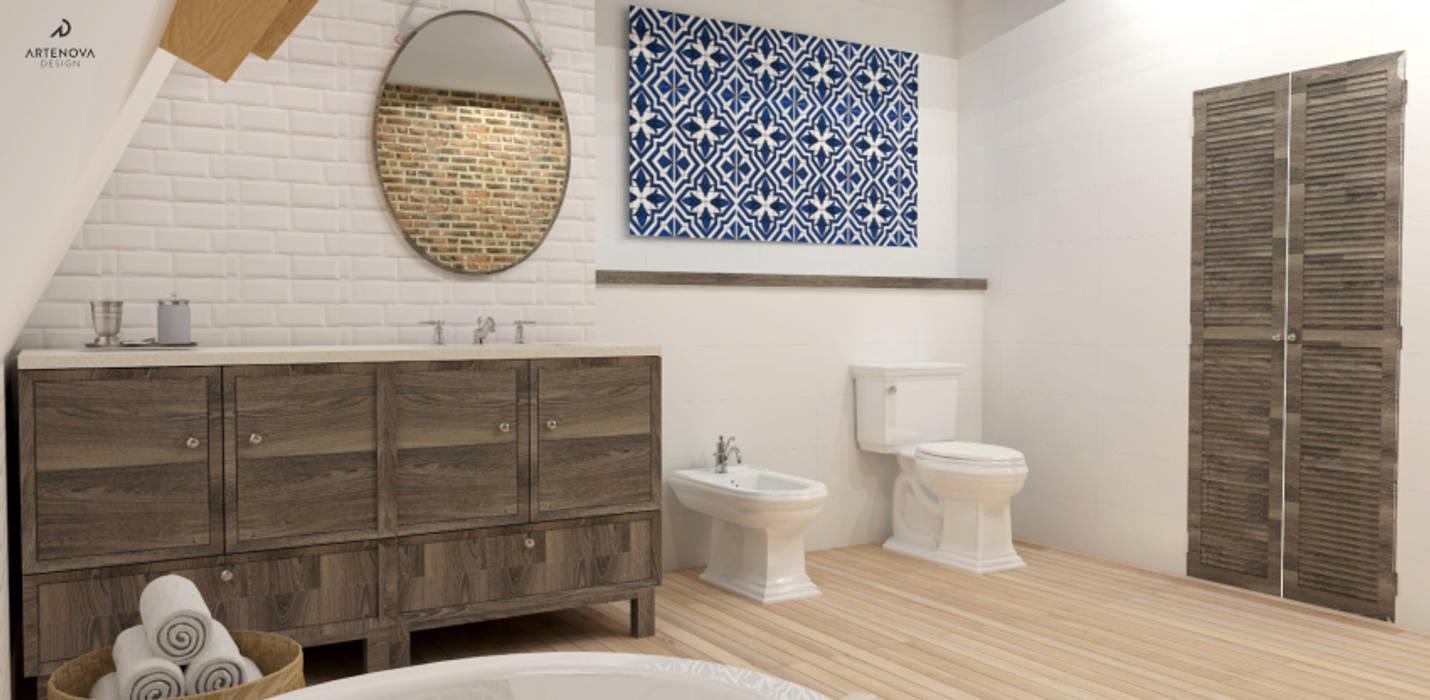 Rustykalna Vintage łazienka Styl W Kategorii łazienka