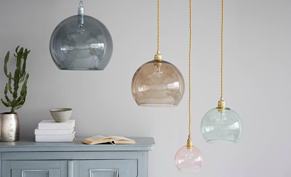 Coloured Glass Pendant Lights rigby & mac Living roomLighting