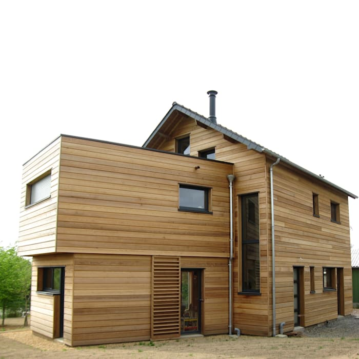 Casas de estilo moderno de Catherine DANIEL Architecte Moderno