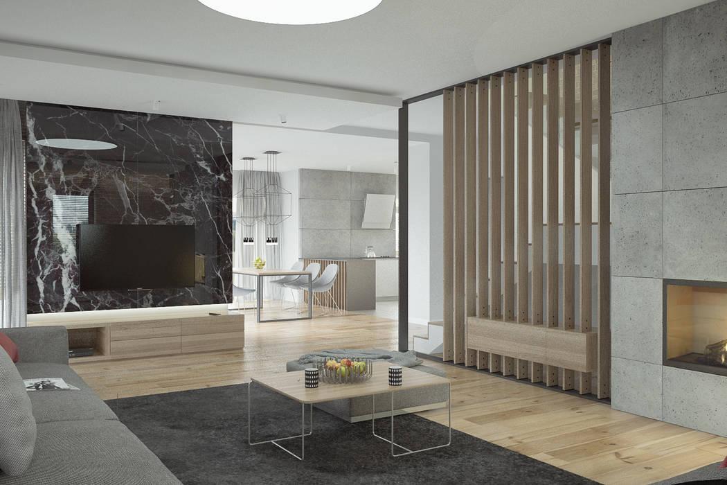 Salas de estilo moderno de Kunkiewicz Architekci Moderno