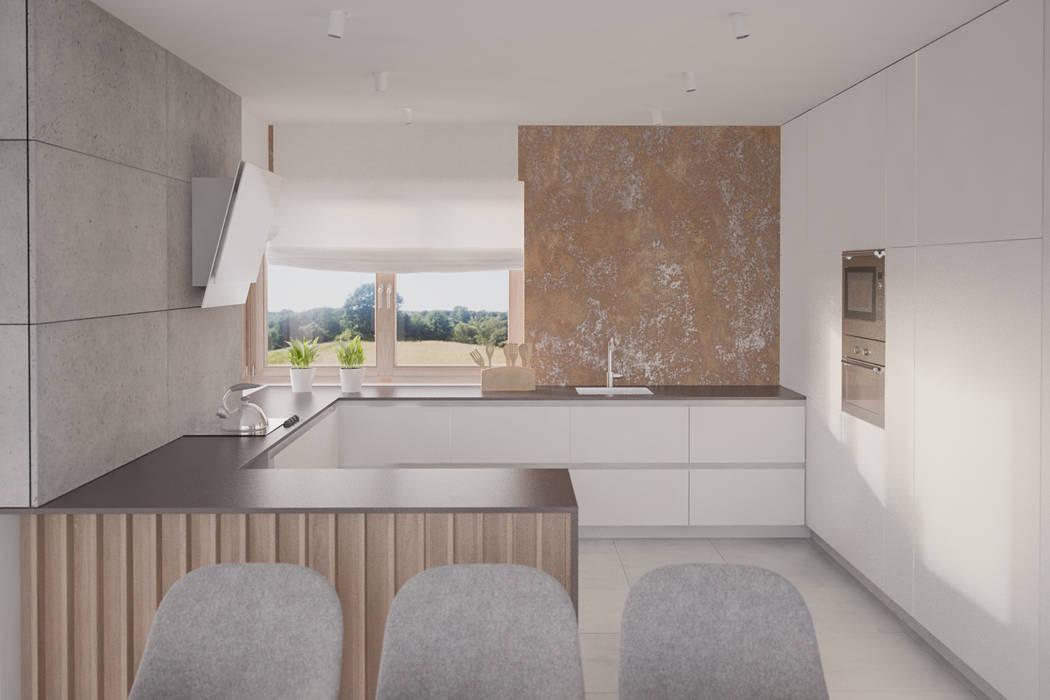 Cocinas de estilo moderno de Kunkiewicz Architekci Moderno