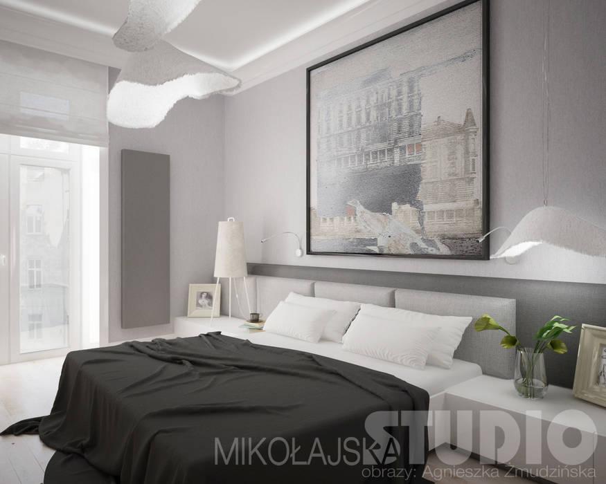 Design-sypialnia: styl , w kategorii Sypialnia zaprojektowany przez MIKOŁAJSKAstudio