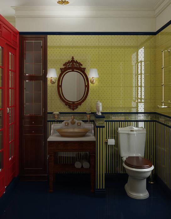 Гостевой санузел в английском стиле: Ванные комнаты в . Автор – Yurov Interiors